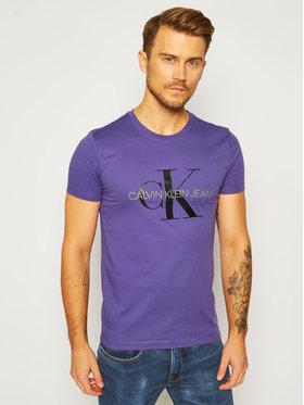 Calvin Klein Jeans Calvin Klein Jeans T-Shirt J30J314551 Fialová Slim Fit