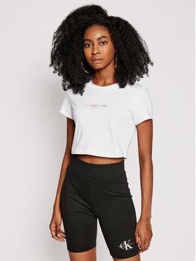 Calvin Klein Jeans Calvin Klein Jeans Тишърт Pride J20J217203 Бял Slim Fit