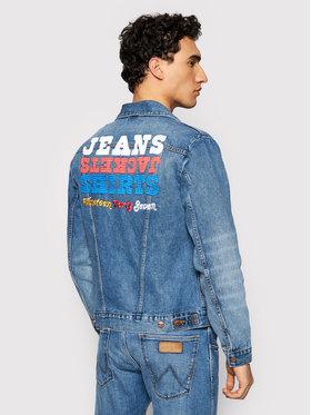 Wrangler Wrangler Kurtka jeansowa The Wrider W4MJUG Granatowy Regular Fit