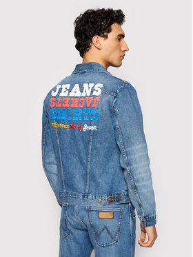 Wrangler Wrangler Veste en jean Icons W4MJUG12K Bleu marine Regular Fit