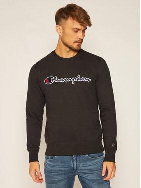 Champion Champion Sweatshirt Script Logo 214720 Schwarz Comfort Fit