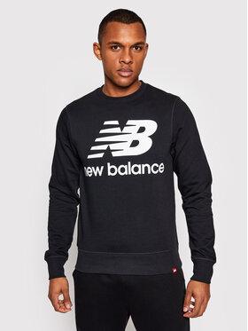 New Balance New Balance Felpa Essentials Stacked Logo Crew MT03560 Nero Athletic Fit