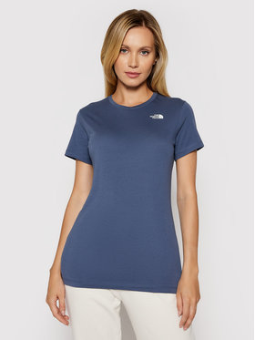 The North Face The North Face Marškinėliai W S/s Simple Dome Tee NF0A4T1A Tamsiai mėlyna Regular Fit