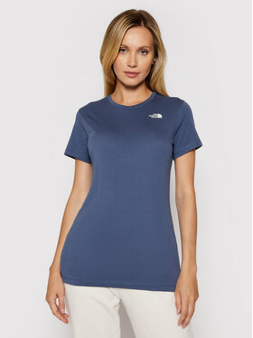 The North Face The North Face Тишърт W S/s Simple Dome Tee NF0A4T1A Тъмносин Regular Fit