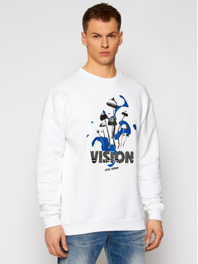 Local Heroes Local Heroes Суитшърт Vision SS21S0053 Бял Oversize