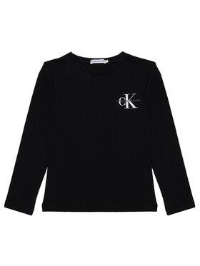 Calvin Klein Jeans Calvin Klein Jeans Blúz Monogram IB0IB00613 Fekete Regular Fit