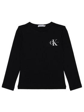 Calvin Klein Jeans Calvin Klein Jeans Блуза Monogram IB0IB00613 Черен Regular Fit
