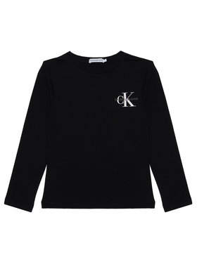 Calvin Klein Jeans Calvin Klein Jeans Bluză Monogram IB0IB00613 Negru Regular Fit