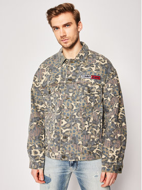 Tommy Jeans Tommy Jeans Giacca di jeans Camo Trucker DM0DM07788 Verde Regular Fit