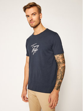 TOMMY HILFIGER TOMMY HILFIGER T-Shirt Logo UM0UM02245 Granatowy Regular Fit