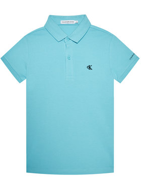 Calvin Klein Jeans Calvin Klein Jeans Тениска с яка и копчета Monogram Chest IB0IB00733 Син Regular Fit