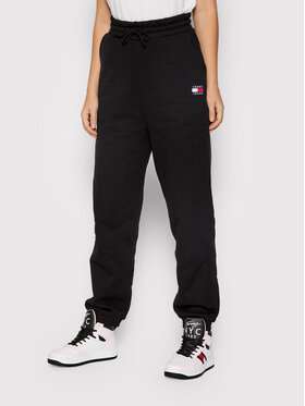 Tommy Jeans Tommy Jeans Долнище анцуг Tjw Hrs Badge DW0DW09740 Черен Relaxed Fit