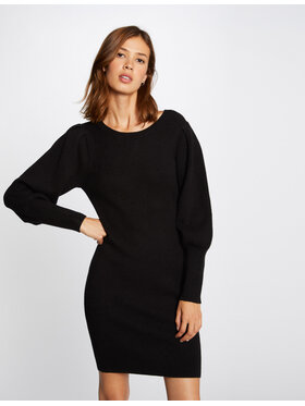 Morgan Morgan Džemper haljina 212-RMDALA Crna Regular Fit