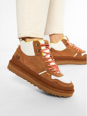 Ugg Ugg Sneakersy W Highland Hi Heritage 1112281 Hnědá