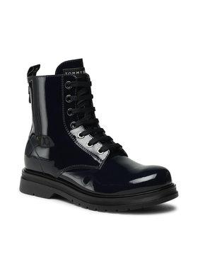 Tommy Hilfiger Tommy Hilfiger Μπότες Lace-Up Bootie T4A5-32008-0775 S Σκούρο μπλε