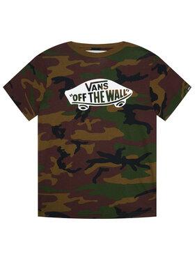 Vans Vans T-Shirt Otw Boys VN000IVE Zielony Classic Fit
