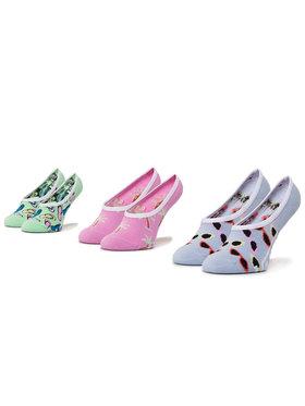 Vans Vans Σετ κάλτσες σοσόνια παιδικές 3 τεμαχίων Brand Striper Canoodles VN0A4DS24481 r.31.5-36 Πράσινο