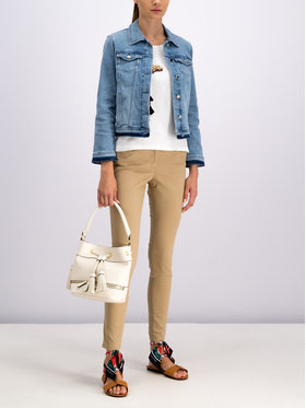 Pennyblack Pennyblack Kalhoty z materiálu Lamberto 31315219 Béžová Regular Fit