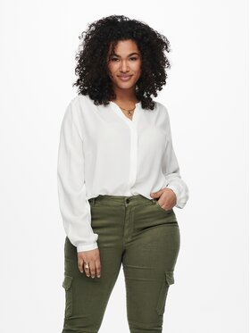 ONLY Carmakoma ONLY Carmakoma Marškiniai Anita 15227557 Balta Regular Fit