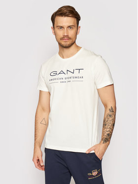 Gant Gant Тишърт Summer Ss 2003093 Бял Regular Fit