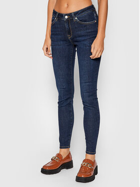 Selected Femme Selected Femme Traperice 16064386 Tamnoplava Skinny Fit