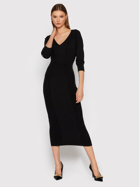TWINSET TWINSET Плетена рокля 212TT3090 Черен Slim Fit