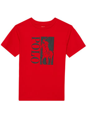 Polo Ralph Lauren Polo Ralph Lauren Marškinėliai Ss Cn 323836650003 Raudona Regular Fit