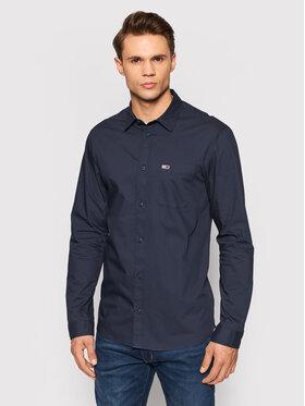 Tommy Jeans Tommy Jeans Marškiniai Essential Poplin DM0DM11870 Tamsiai mėlyna Regular Fit