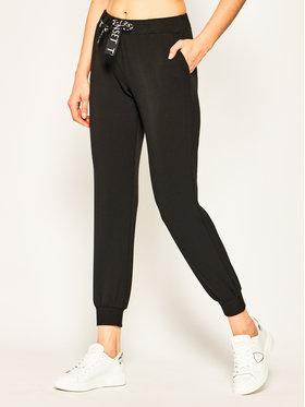 TwinSet Teplákové nohavice 201LL2CGG Čierna Regular Fit