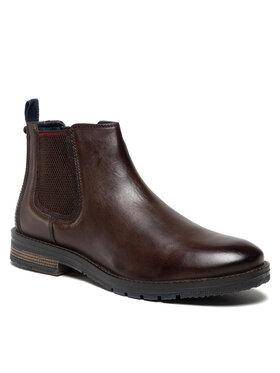 Wrangler Wrangler Kotníková obuv s elastickým prvkem Boogie Chelsea WM12051A Hnědá