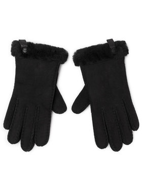 Ugg Ugg Guanti da donna W Shorty Glove W Leather Trim 17367 Nero