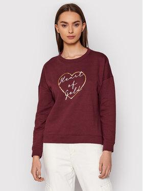 Vero Moda Vero Moda Bluza Heart 10262914 Bordowy Regular Fit