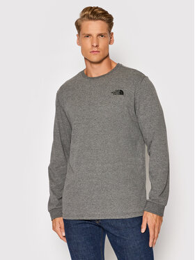 The North Face The North Face Longsleeve Simple Dome NF0A3L3BDYY1 Szary Regular Fit