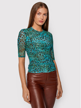 Guess Guess Bluză Malori W1BP34 K2X53 Verde Slim Fit