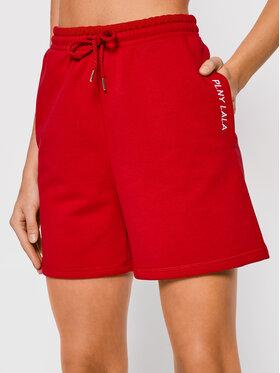 PLNY LALA PLNY LALA Pantaloncini sportivi Shorty PL-SI-SH-00006 Rosso Loose Fit