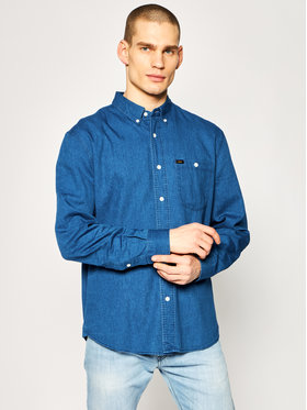 Lee Lee Camicia Refined Riveted L67TDZLR Blu scuro Relaxed Fit