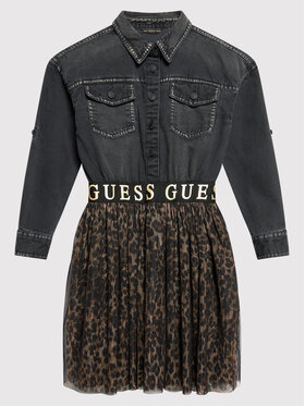 Guess Guess Každodenné šaty J1BK10 D4IC0 Čierna Regular Fit
