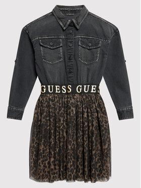 Guess Guess Sukienka codzienna J1BK10 D4IC0 Czarny Regular Fit