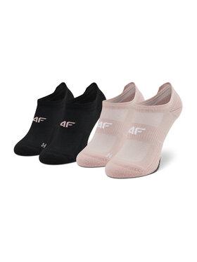 4F 4F Комплект 2 чифта къси чорапи дамски H4L21-SOD004 Розов