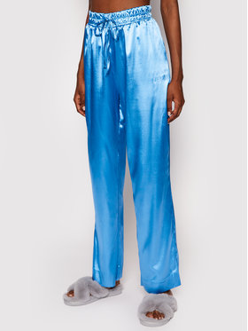 PLNY LALA PLNY LALA Pyžamové nohavice Susan PL-SP-A2-00002 Modrá