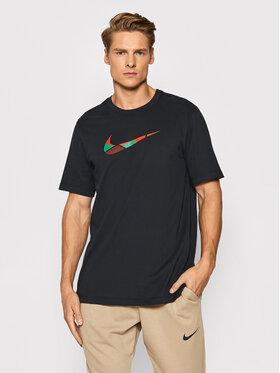 Nike Nike Marškinėliai Team Kenya CW0935 Juoda Regular Fit