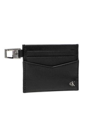 Calvin Klein Jeans Calvin Klein Jeans Puzdro na kreditné karty Mono Hardware Cardcase 6cc K50K507219 Čierna