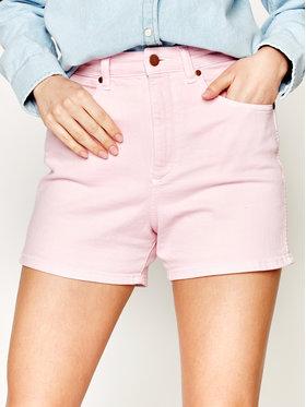 Wrangler Wrangler Szorty jeansowe Mom W22DMHP10 Różowy Regular Fit