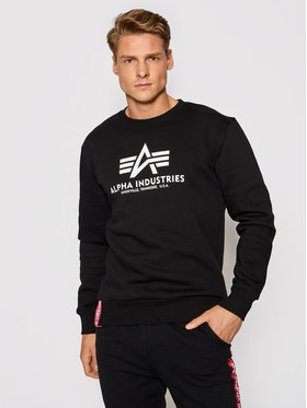 Alpha Industries Alpha Industries Bluză Basic 178302 Negru Regular Fit