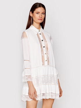 Babylon Babylon Sukienka koszulowa N_EL0701 Biały Regular Fit