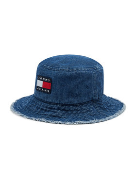 Tommy Jeans Tommy Jeans Klobúk typu bucket Heritage Denim AW0AW10184 Modrá