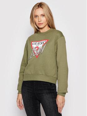 Guess Guess Sweatshirt Icon W1YQ0C K68I0 Grün Regular Fit
