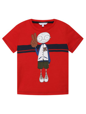 Little Marc Jacobs Little Marc Jacobs T-Shirt W25414 Rot Regular Fit