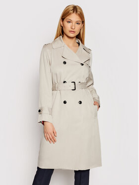 Tommy Hilfiger Tommy Hilfiger Trench Db Lyocell Fluid WW0WW30169 Grigio Regular Fit