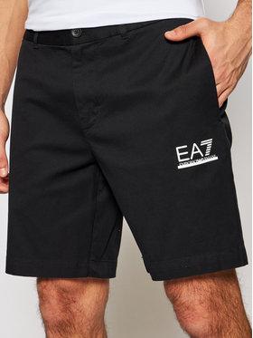EA7 Emporio Armani EA7 Emporio Armani Pantaloncini di tessuto 3KPS01 PNQ1Z 1200 Nero Regular Fit